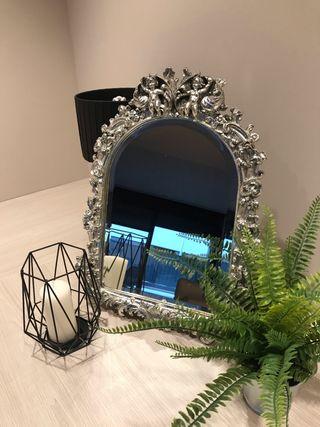 Espejo plata decorativo