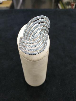 anillo plata de ley 925 con pedrería