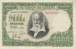 Billete de 1000 Pesetas de 1951 Joaquín Sorolla