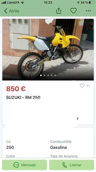 Se buusca moto de cross 125/250/450 2/4t