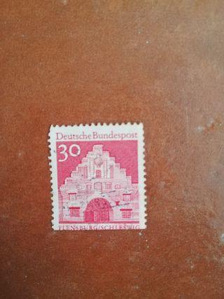 sello Deutsche bundespost 30