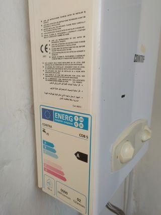 Calentador de agua a gas