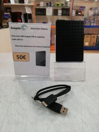 Disco duro HDD externo Seagate 2TB