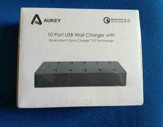 Cargador Multiple PRO 10 USB QuickCharge NUEVO