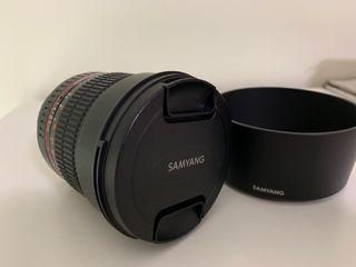 Objetivo Samyang 1.4 85 mm para cámara Canon nuevo