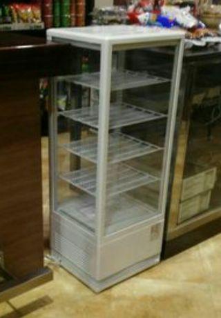 Vitrina curvada refrigerada