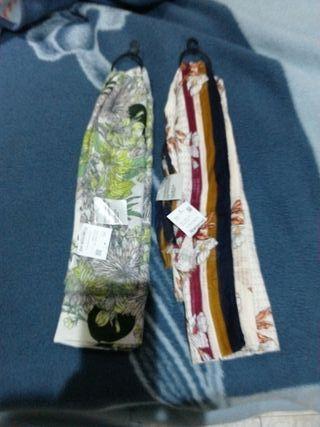 Lote dos pañuelos grandes nuevos