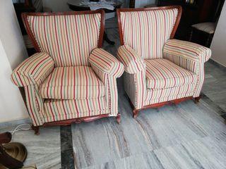 Sillón de tres plazas más dos sillones