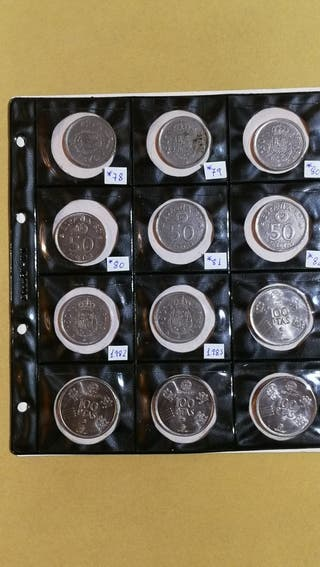 Lote Monedas de 100 y 50 Pesetas