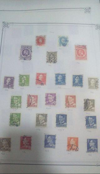 Más de 3000 sellos postales del siglo 18 al siglo
