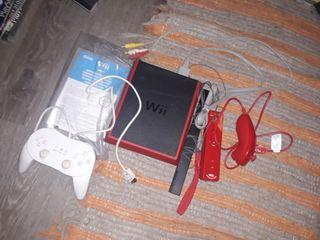 MINI WII roja con mando adicional
