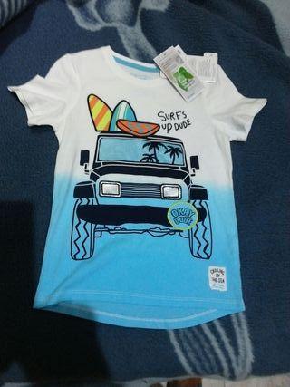 camiseta niño talla 7 nueva