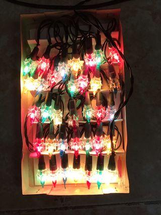 35 Bombillas Luces Navidad Colores Intermitente