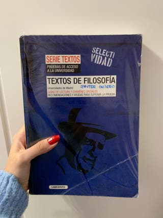 LIBRO SELECTIVIDAD TEXTOS FILOSOFÍA