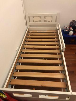 Cama niño/a Ikea con colchón