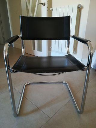 sillas de estructura metálica cromada