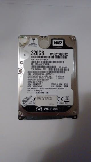 Disco duro WESTERN DIGITAL BLACK 320GB 7200RPM