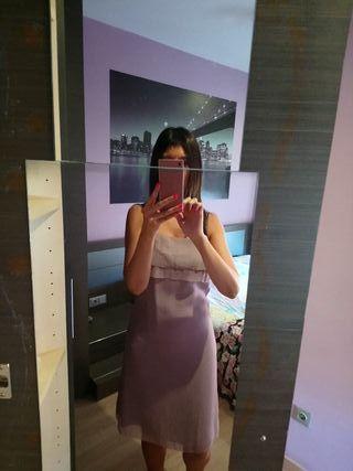 Vestido fiesta rosa claro
