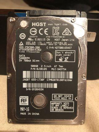 Disco duro hdd 500gb