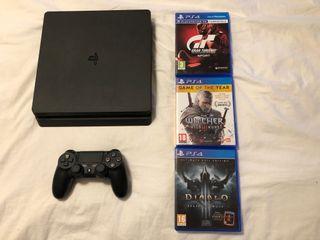 Playstation 4 Slim con tres juegos