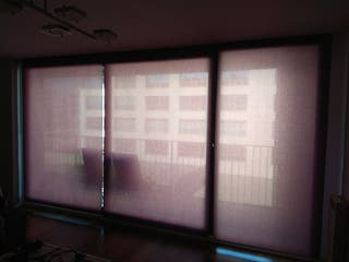 Cortinas estor color morado