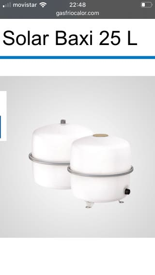 Vasoflex solar 25 litros