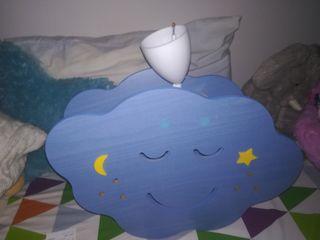 lampara nube habitación bebé