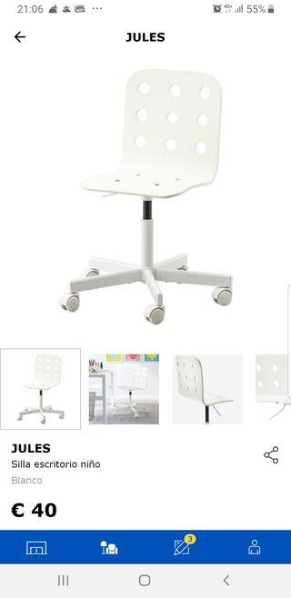 2 sillas de escritorio con ruedas