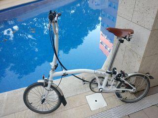 Brompton bicicleta plegable (ML6)