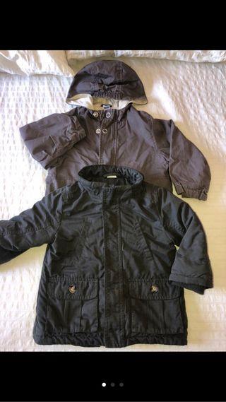 2 chaquetas bebé 18-24 meses