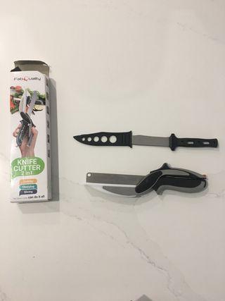 Cortador y cuchillo sin usar