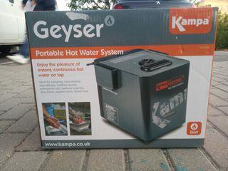 Kampa - Geyser portatil calentador de agua