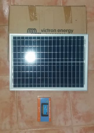 Placa solar y regulador