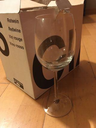 6 copas vino rosado Leonardo mod CIAO