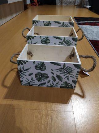 juego de 3 cajas