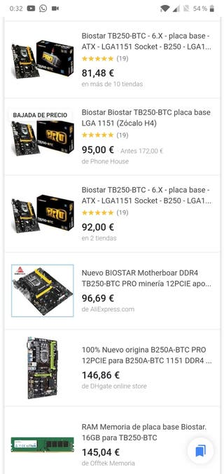 Placa Base TB250-BTC Intel LGA 1151 NUEVA