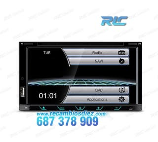 "RADIO NAVEGADOR 2DIN GPS 7"" HD TÁCTIL BLUETOOTH US"