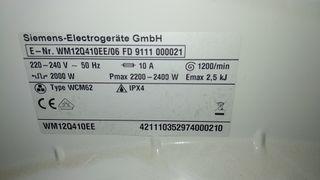 Despiece Lavadora Siemens WM12Q410