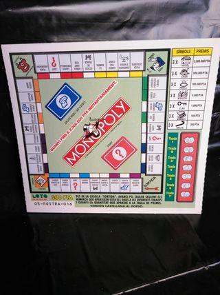"""billetes lotería Loto ràpid """"monopoly"""""""