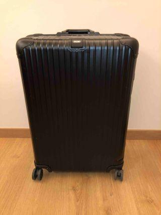 Rimowa maleta TOPAS ALUMINIO rígida negra
