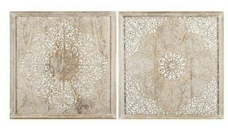 cuadros madera tallada mandala