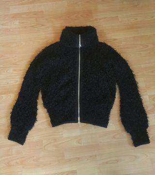 Branded fluffy jacket