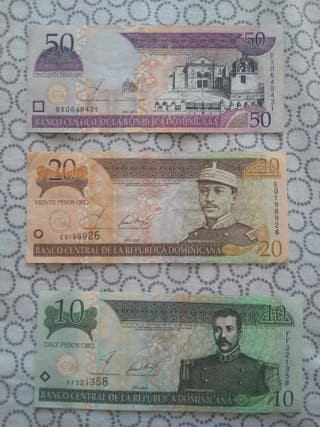 billetes de republica dominicana.