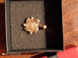 medalla madre oro 24kt