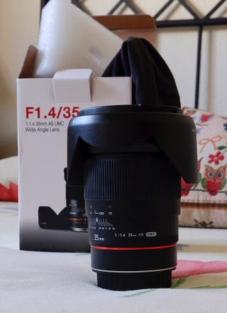 Objetivo Samyang 35mm 1.4 Para Canon