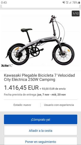 Bicicleta eléctrica kawasaki