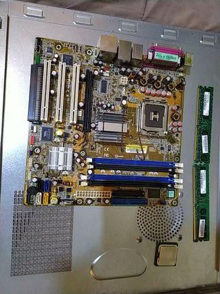 placa madre 755 + procesador + ram