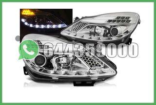 FAROS LED+INTERMITENTE CROMO CORSA D