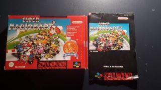 Caja y Manual Super Mario Kart SNES