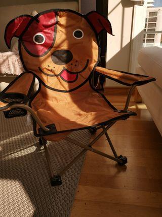 silla infantil plegable hasta 8 añ aprox seminueva